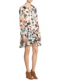 Alice   Olivia - Moore Devor   Tiered Bell Sleeves Tunic Dress at Saks Off 5th