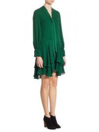 Alice   Olivia - Moore Tiered Silk Tunic Dress at Saks Fifth Avenue