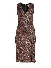 Alice   Olivia - Natalie Sequin V-Neck Dress at Saks Fifth Avenue