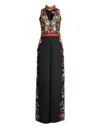Alice   Olivia - Nilsa Floral Embroidered Wide-Leg Jumpsuit at Saks Fifth Avenue