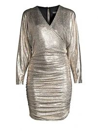 Alice   Olivia - Pace Batwing-Sleeve Drape Dress at Saks Fifth Avenue