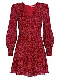 Alice   Olivia - Polly Leopard Print Faux Wrap Mini Dress at Saks Fifth Avenue