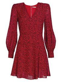 Alice   Olivia - Polly Leopard Print Faux Wrap Mini Dress at Saks Fifth Avenue