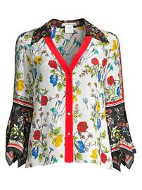 Alice   Olivia - Randa Floral Blouse at Saks Fifth Avenue
