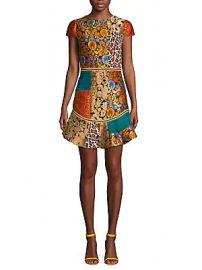 Alice   Olivia - Rapunzel Patchwork Dress at Saks Off 5th