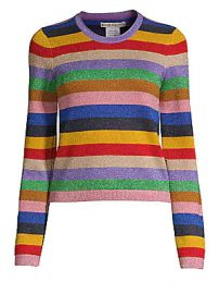 Alice   Olivia - Rhodes Striped Pullover at Saks Fifth Avenue