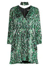 Alice   Olivia - Rita Blouson Sleeve Print Dress at Saks Fifth Avenue