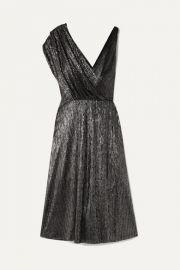 Alice   Olivia - Roxy wrap-effect draped Lurex dress at Net A Porter