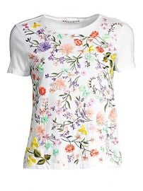 Alice   Olivia - Rylyn Embellished Floral T-Shirt at Saks Fifth Avenue