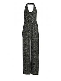 Alice   Olivia - Salem Embellished Cowled Halterneck Jumpsuit at Saks Fifth Avenue