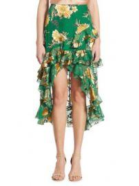 Alice   Olivia - Sasha Hi-Lo Tiered Ruffled Skirt at Saks Fifth Avenue