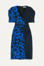 Alice   Olivia - Siona wrap-effect printed silk crepe de chine dress at Net A Porter