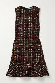 Alice   Olivia - Sonny ruffled tweed mini dress at Net A Porter
