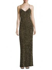 Alice   Olivia - Stila Embellished Side Slit Gown at Saks Fifth Avenue