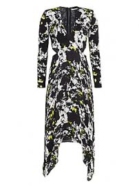 Alice   Olivia - Temika Cutout Print Dress at Saks Fifth Avenue