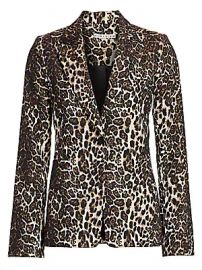 Alice   Olivia - Toby Leopard Print Fitted Blazer at Saks Fifth Avenue