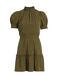 Alice   Olivia - Vida Puff-Sleeve Mini Dress at Saks Fifth Avenue