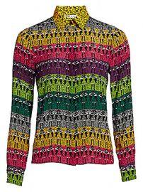 Alice   Olivia - Willa Rainbow Leopard Print Blouse at Saks Fifth Avenue