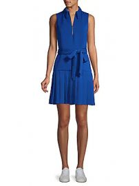 Alice   Olivia - Yoko Zip Front Pleated Dress at Saks Off 5th
