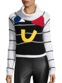 Alice   Olivia - Zita Eye Heart U Crop Turtleneck Sweater at Saks Fifth Avenue