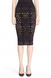 Alice   Olivia   x27 Ani  x27  Multicolor Pointelle Knit Pencil Skirt   Nordstrom at Nordstrom