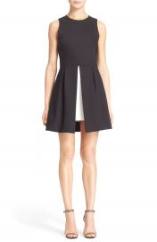 Alice   Olivia  Bria  Peplum Fit   Flare Dress at Nordstrom