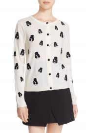 Alice   Olivia  Stacey Emoji  Embroidered Wool Cardigan at Nordstrom