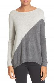 Alice   Olivia Abbie Colorblock High Low Pullover at Nordstrom
