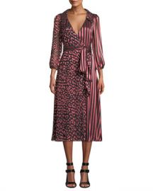 Alice   Olivia Abigail Wrap Dress at Neiman Marcus