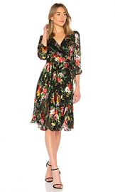 Alice   Olivia Abney Wrap Dress in Blooming Bouquet from Revolve com at Revolve