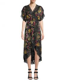 Alice   Olivia Adele Clean-Waist Wrap Dress at Neiman Marcus
