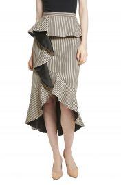 Alice   Olivia Alessandra Stripe Peplum Ruffle Skirt at Nordstrom