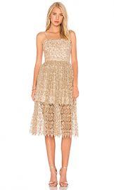 Alice   Olivia Alma Dress in Gold from Revolve com at Revolve