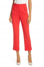Alice   Olivia Ardell High Waist Crop Pants   Nordstrom at Nordstrom