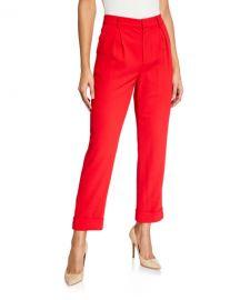 Alice   Olivia Ardell High-Waist Pleated Pants at Neiman Marcus