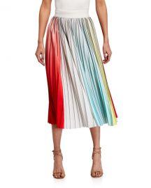 Alice   Olivia Arden Pleated Midi Skirt at Neiman Marcus