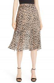 Alice   Olivia Athena Leopard Spot Skirt   Nordstrom at Nordstrom