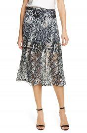Alice   Olivia Athena Snake Print Double Slit Skirt   Nordstrom at Nordstrom