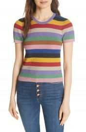 Alice   Olivia Baylor Stripe Top at Nordstrom