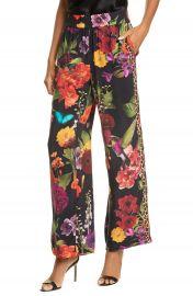 Alice   Olivia Benny Floral Smock Waist Pants   Nordstrom at Nordstrom