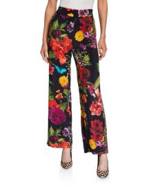 Alice   Olivia Benny Smocked Waistband Pants at Neiman Marcus