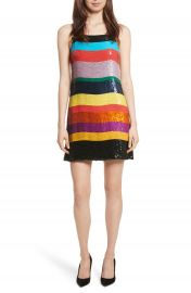 Alice   Olivia Bridget Striped Sequin Slipdress at Nordstrom