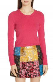 Alice   Olivia Ciara Cropped Cashmere Blend Sweater at Nordstrom