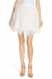 Alice   Olivia Cina Ostrich Feather Skirt   Nordstrom at Nordstrom