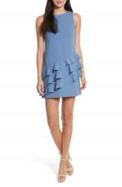 Alice   Olivia Clive Asymmetrical Ruffle A-Line Dress at Nordstrom