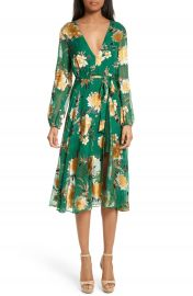 Alice   Olivia Coco Floral Print A-Line Dress at Nordstrom