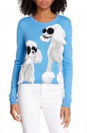 Alice   Olivia Connie Poodle Intarsia Sweater   Nordstrom at Nordstrom