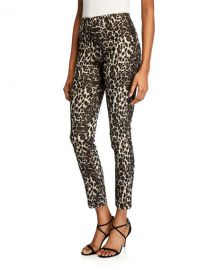 Alice   Olivia Connley High-Waist Fitted Slim-Leg Pants at Neiman Marcus