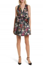 Alice   Olivia Daralee Bow Front Party Dress at Nordstrom