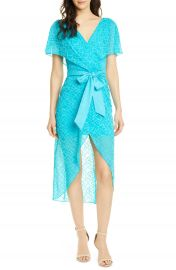 Alice   Olivia Darva Faux Wrap Party Dress   Nordstrom at Nordstrom